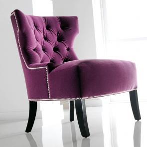 Regal purple mohair chair!