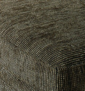 Close-up of furniture upholstered in chenille.